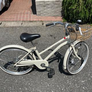 子供用自転車 20インチ 白 カゴ付き
