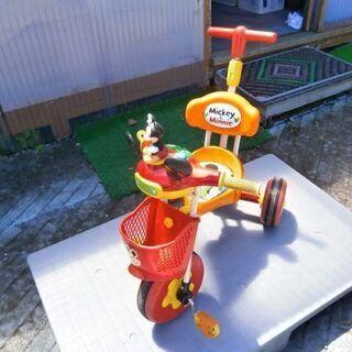 楽しく遊べる! ミッキーマウス三輪車(中古・普通品)