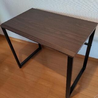 机 パソコンデスク テーブル 木製&スチール 幅85センチ