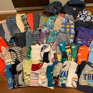男の子 夏服、冬服 90〜100まとめて75着ほど