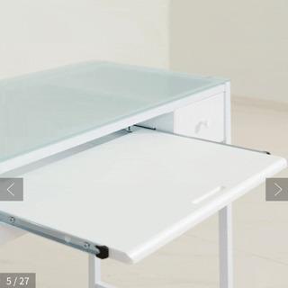 【ネット決済】コンパクトデスク ガラステーブル