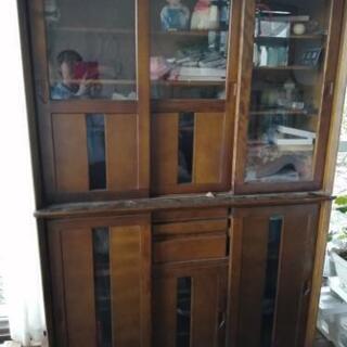 戸棚 食器棚 引き戸 上下分割可