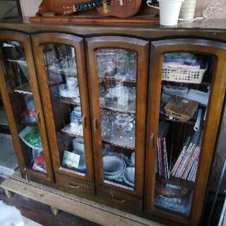 キュリオ 戸棚 飾り棚 食器棚