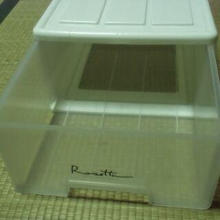 ●無料● 白系 引き出し 全日本プラスチック 差し上げます。*石...