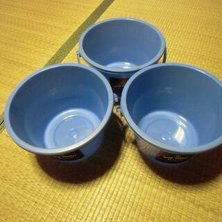 ワールド印 WIDE BUCKET 青 バケツ (6L)3…