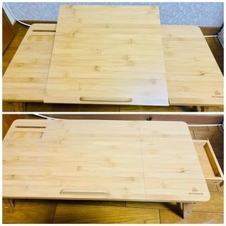 IBOOHOME ノートパソコンデスク 折りたたみ式 竹製