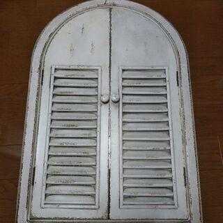 アンティーク調 窓型ミラー