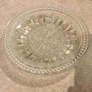 【ネット決済】【貴重】大正ガラス お皿 直径12.5cm
