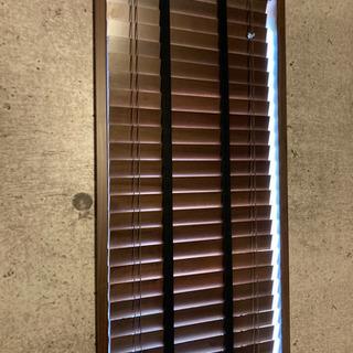 2個セット(1個3000円) オーダー品 木製ブラインド(ダーク...