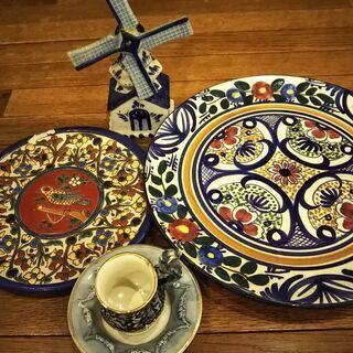 ヨーロッパの陶器飾り(破損あり)