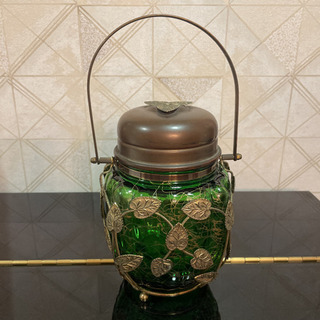 レトロ オルゴール付きアイスペール ボヘミアガラス チェコ製