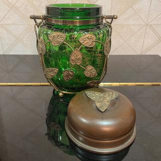 お値引き致しました レトロ オルゴール付きアイスペール ボヘミアガラス チェコ製 - その他