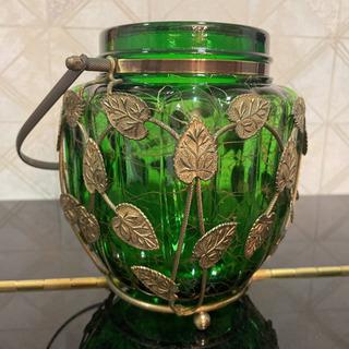 お値引き致しました レトロ オルゴール付きアイスペール ボヘミアガラス チェコ製 − 兵庫県