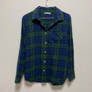 1,2回の着用☆WEGO レディース 緑 チェックシャツ フリー...