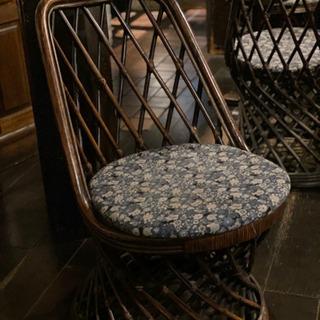 古い籐製椅子 1脚/ 20脚まで購入可能 ラタンチェア 古家具 ...