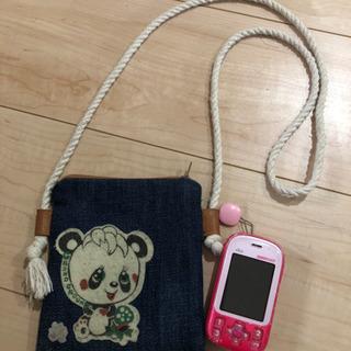 ハンドメイド☆キッズ携帯用ポシェット