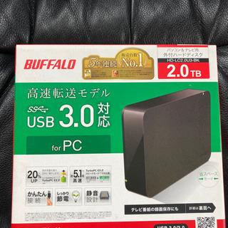 新品 外付けHDD2TB PC用、TV用