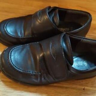 子供 男の子 フォーマルシューズ18㎝ 中古 靴 黒
