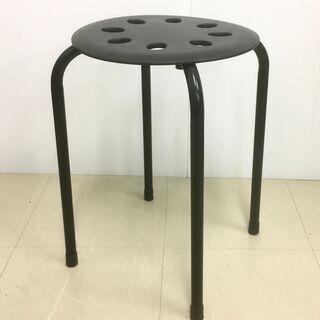 丸椅子 丸イス スツール ニトリ 黒 ブラック