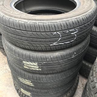 タイヤのみ4本 GOODYEAR GT-HYBRID ラジ…