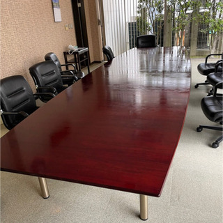 大型会議用 ミーティングテーブル 椅子セット 10脚