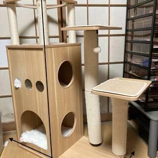 ★ 猫用品 ★木製キャットタワー 猫ハウス  多頭飼い  高さ1...