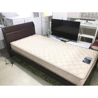フランスベッド マットレス シングルベッド 木製フレーム&…