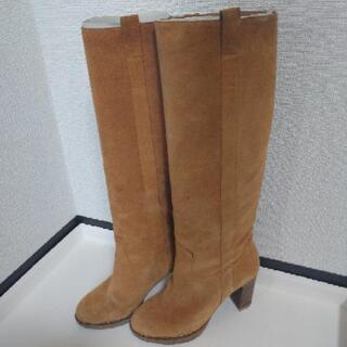 【AU BANNISTER】スエードロングブーツ サイズ36
