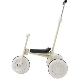美品!! 無印良品 三輪車 白 舵取り棒つき