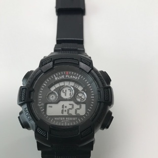 80、デジタル腕時計 BLUE PLANET