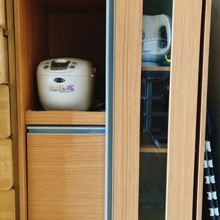 【ネット決済・配送可】キッチンボード 収納 炊飯器置き
