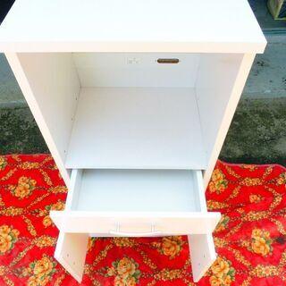 白いレンジ台 中古 - 家具
