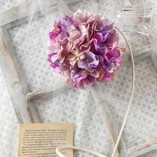 紫陽花のフラワーボール