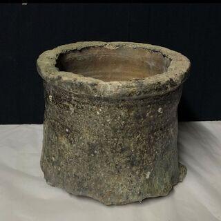 e610 信楽焼 トチン 鉢カバー 自然釉 窯道具 古道具