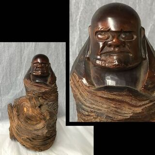 e611 木彫 達磨大師 彫刻 仏教美術 仏像