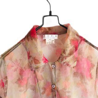 イタリア製 ヨーロッパ古着 透け感シャツ ブラウス シースルー ...