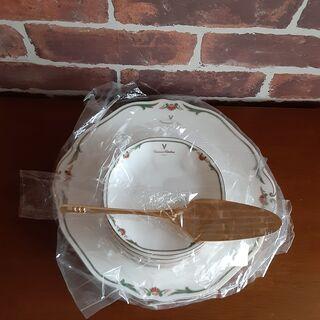ケーキ皿(大1)&銘々皿5枚 ケーキサーバー付 ※セット販売