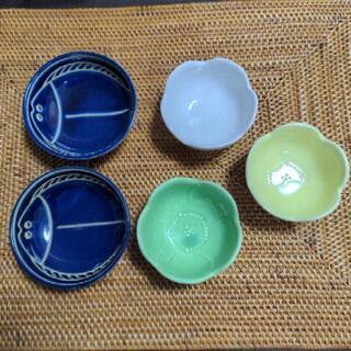 小鉢 5個セットヒラメ2個 梅3個