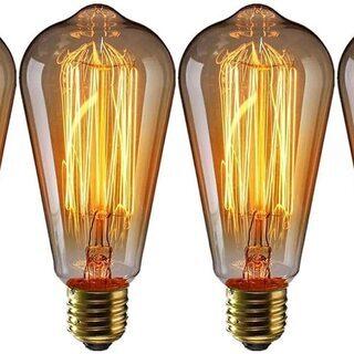 【新品・未使用】エジソン電球(E26口金 110V)4個セット