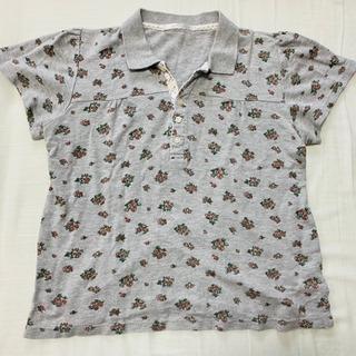 グレー ポロシャツ フリーサイズ レトロガール