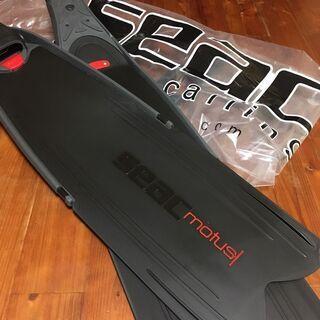 【新品未使用】SEAC MOTUS ロング フィン 黒SI…