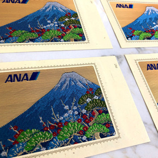 【ネット決済】京都西陣織 ANA記念ハガキ     富士山 4枚セット