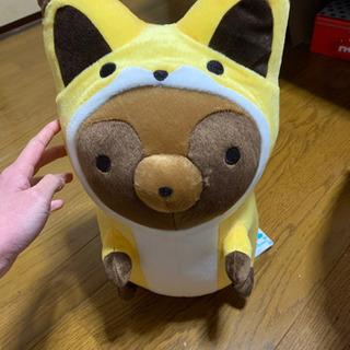 タヌキとキツネ めちゃでかぬいぐるみ~キツネタヌキ~