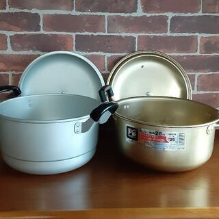 アルミ大鍋x2 & 大皿x2