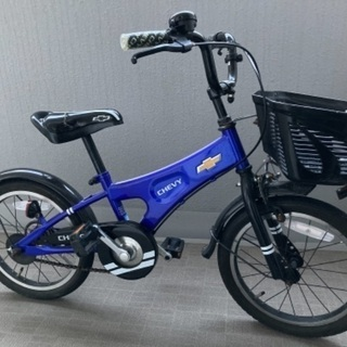 青 シボレー子供自転車 CHEVY KIDS 16インチ幼…
