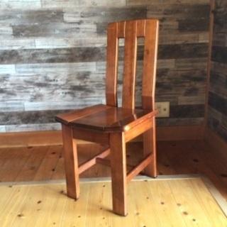 地元の方にお安く売ります。無垢材の椅子