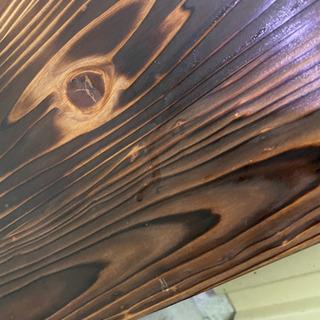 国産杉板 油性クリア塗装塗布