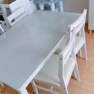 4人掛け ダイニングテーブル 椅子4脚 白