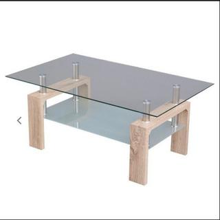 【ネット決済】ガラステーブル ローテブル センターテーブル リビ...