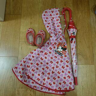 ミニーマウス ポンチョ・長靴・傘